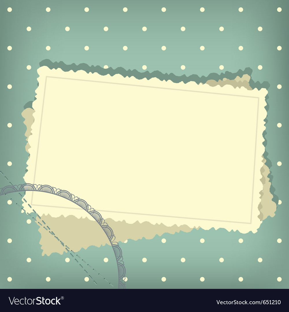 Greeting scrap retro background