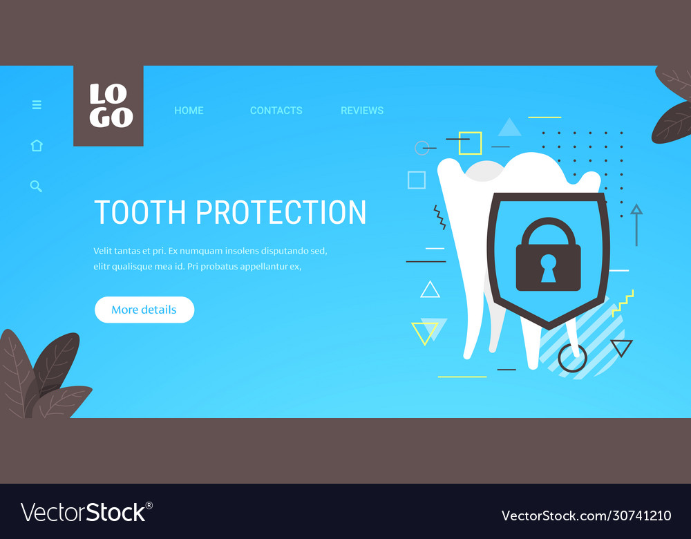 Healthy tooth and shield anti-caries protection