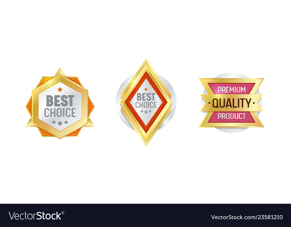 Quality Label Badge Premium Certificate Design Vector Image