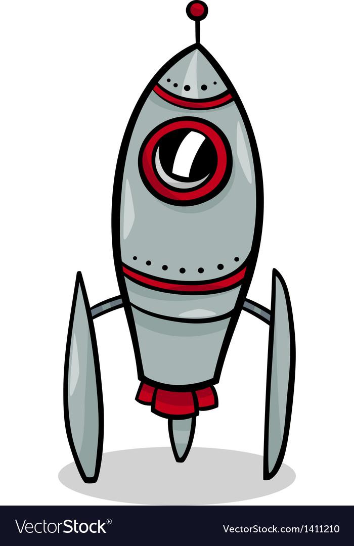 Rocket spaceship cartoon Royalty Free Vector Image