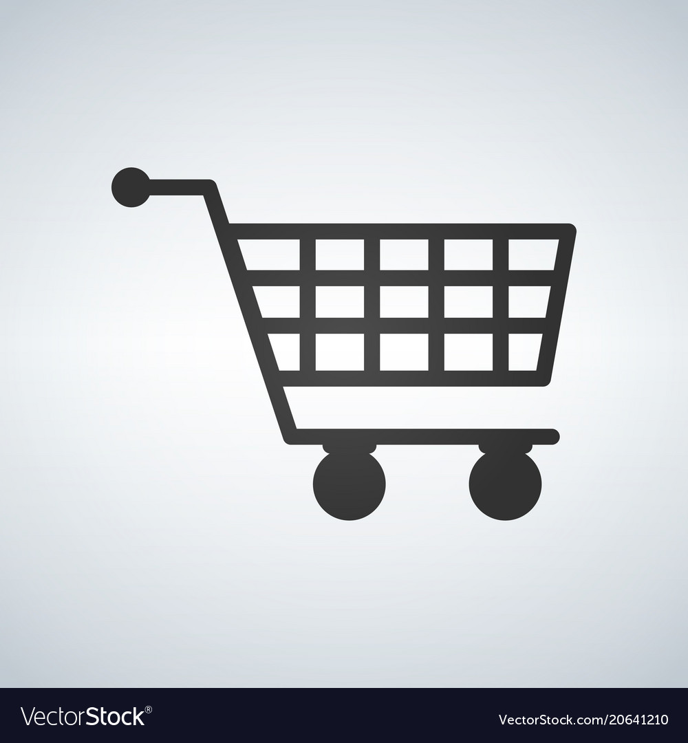 Shopping cart virtual ecommerce business symbol