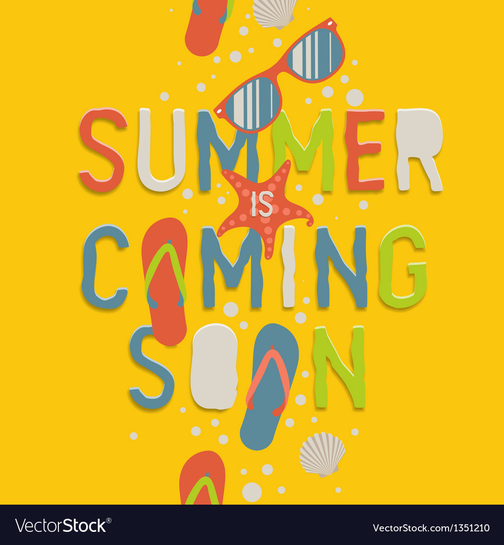 Summer Coming Soon Creative Graphic Background Vector Image