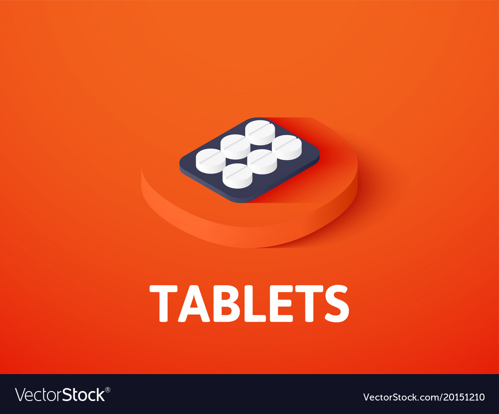 Tablets isometric icon isolated on color vector image