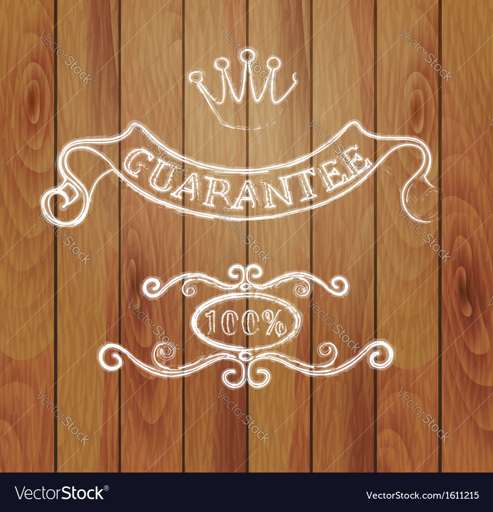 Design elements and a wooden background vector image