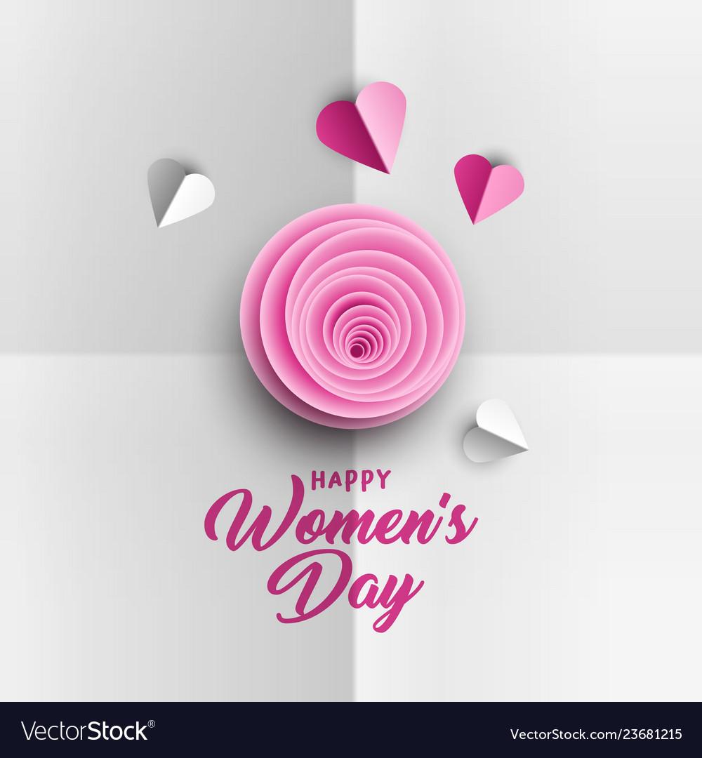 Happy women s day poster design
