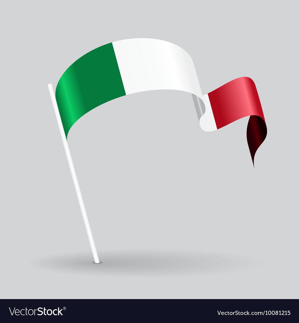 Italian wavy flag