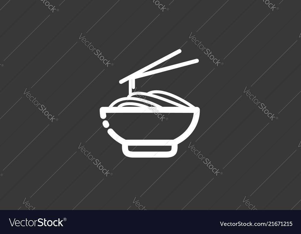 Noodles icon sign symbol