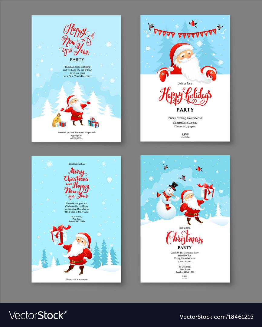 Santa holiday winter card