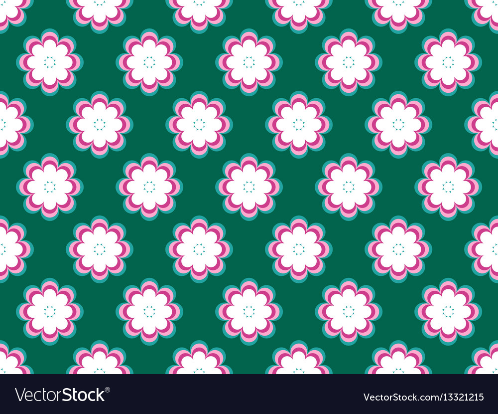 Seamless floral pattern flowers with petals of