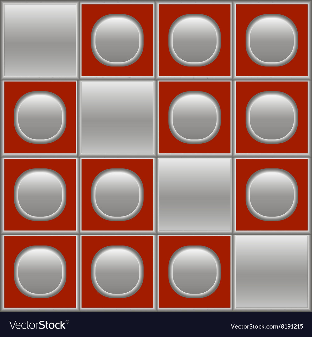 Silver red background with circles and squares