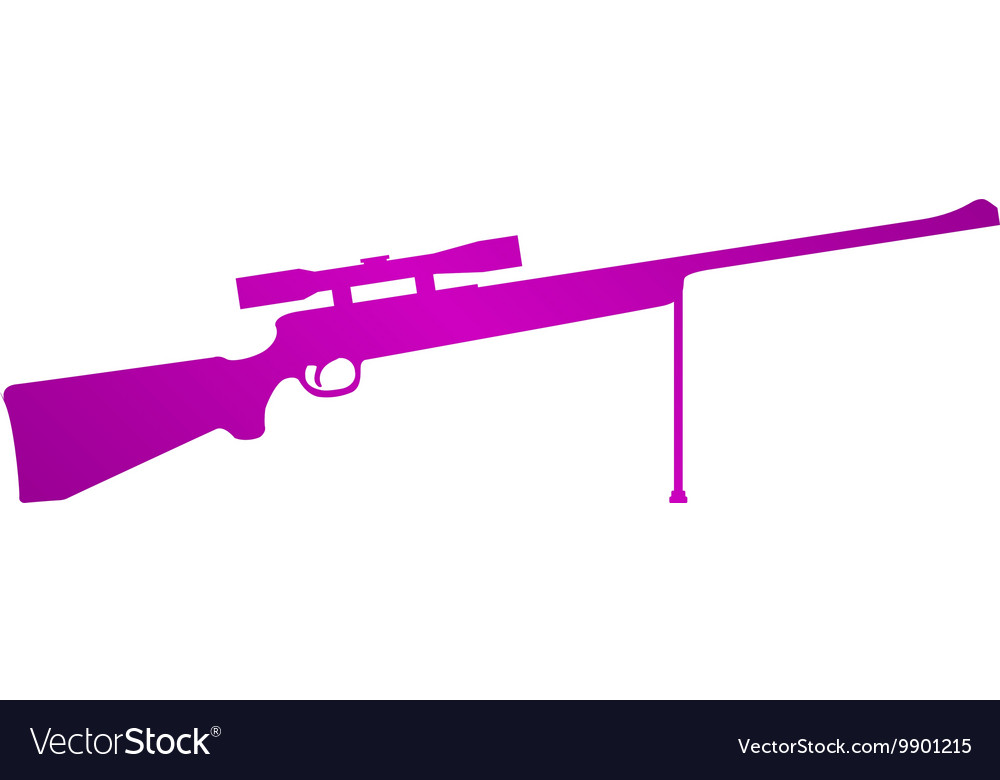 Sniper Rifle icon concept for vector image