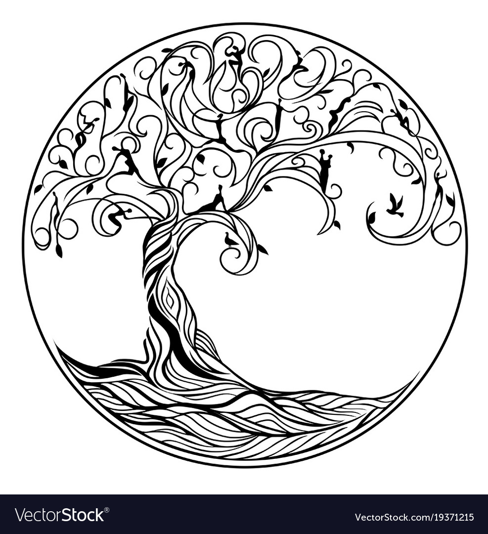 tree of life royalty free vector image vectorstock rh vectorstock com tree of life vector free download tree of life vector image