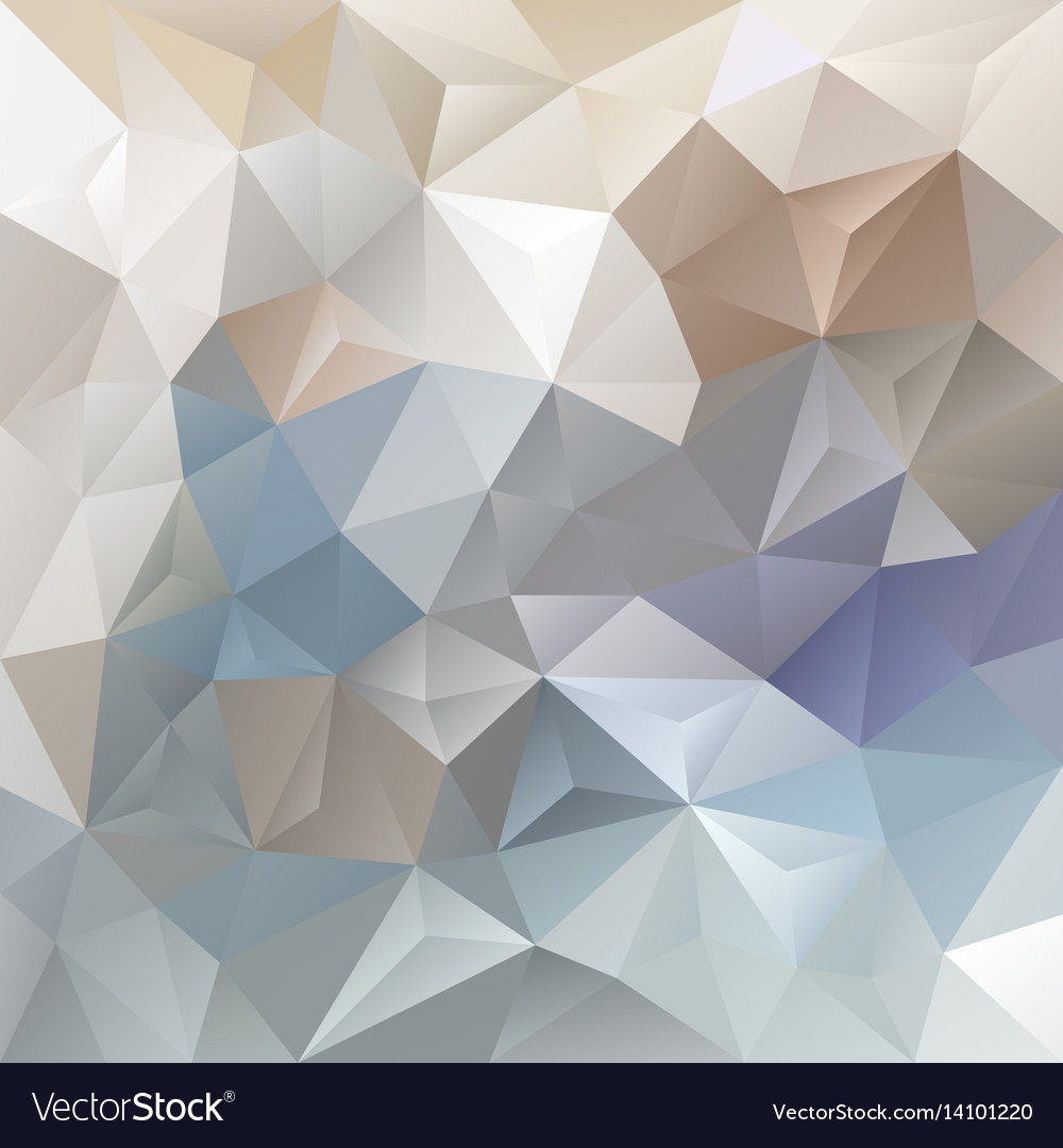 Abstract blue and beige polygon background vector image