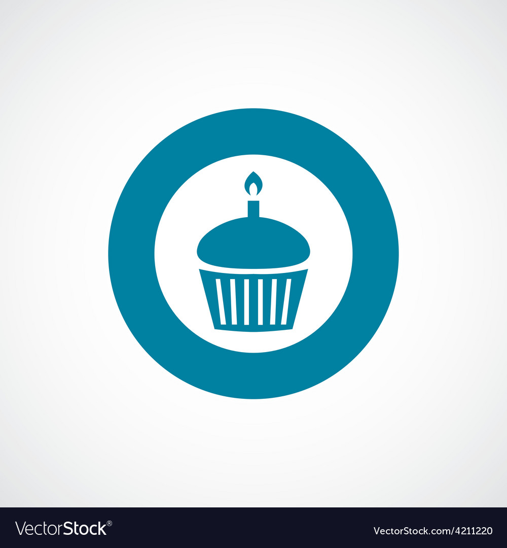 Cake icon bold blue circle border
