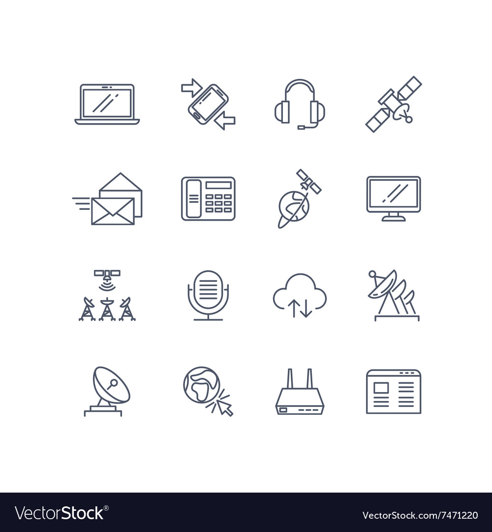 Communication and web line icons