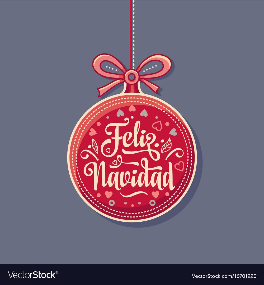 Feliz navidad greeting card in spain royalty free vector feliz navidad greeting card in spain vector image m4hsunfo