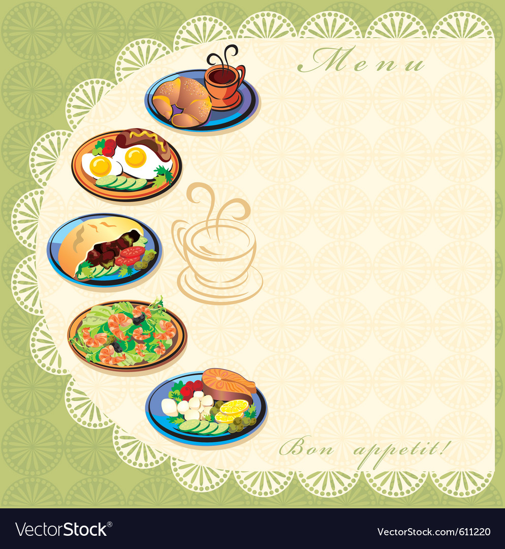 Menu template Royalty Free Vector Image   VectorStock