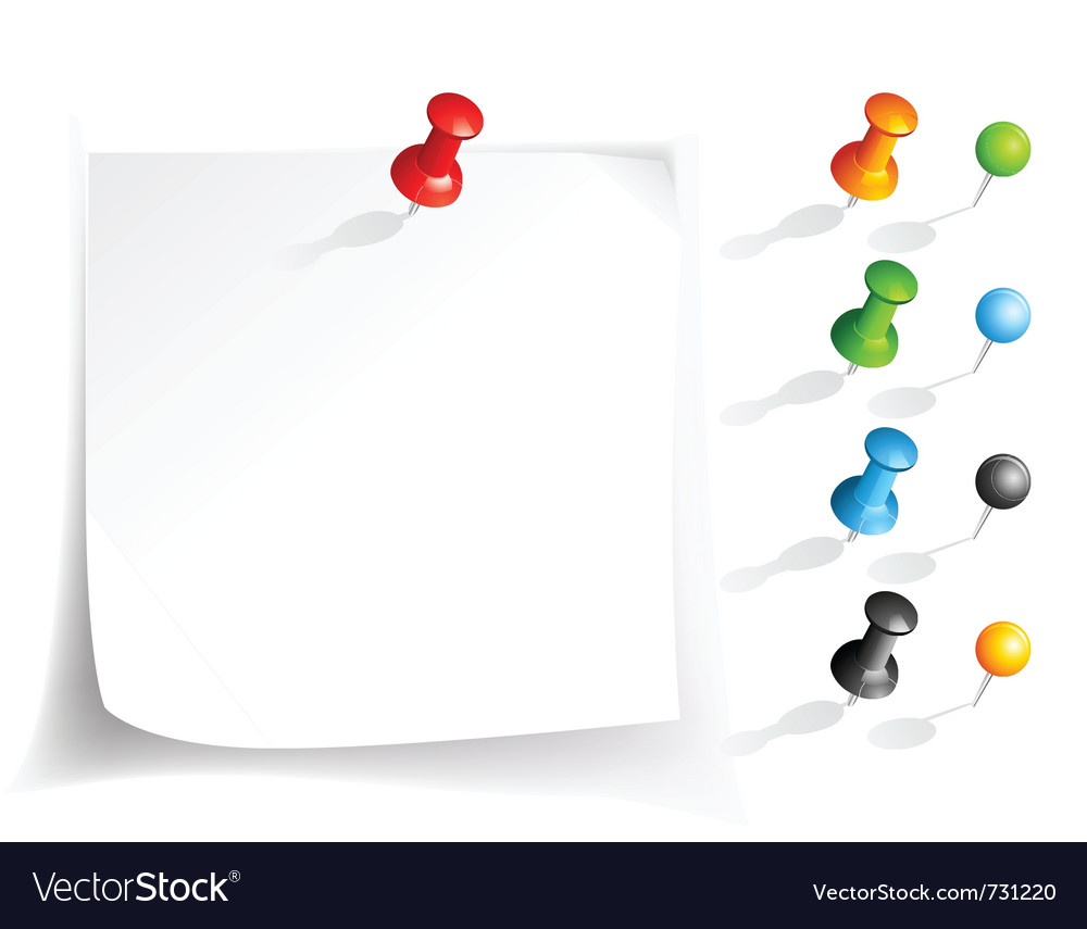 Note paper and pins