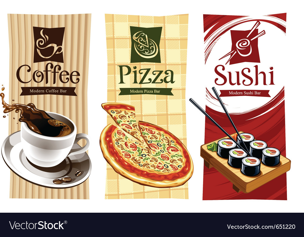 template designs of food banners royalty free vector image