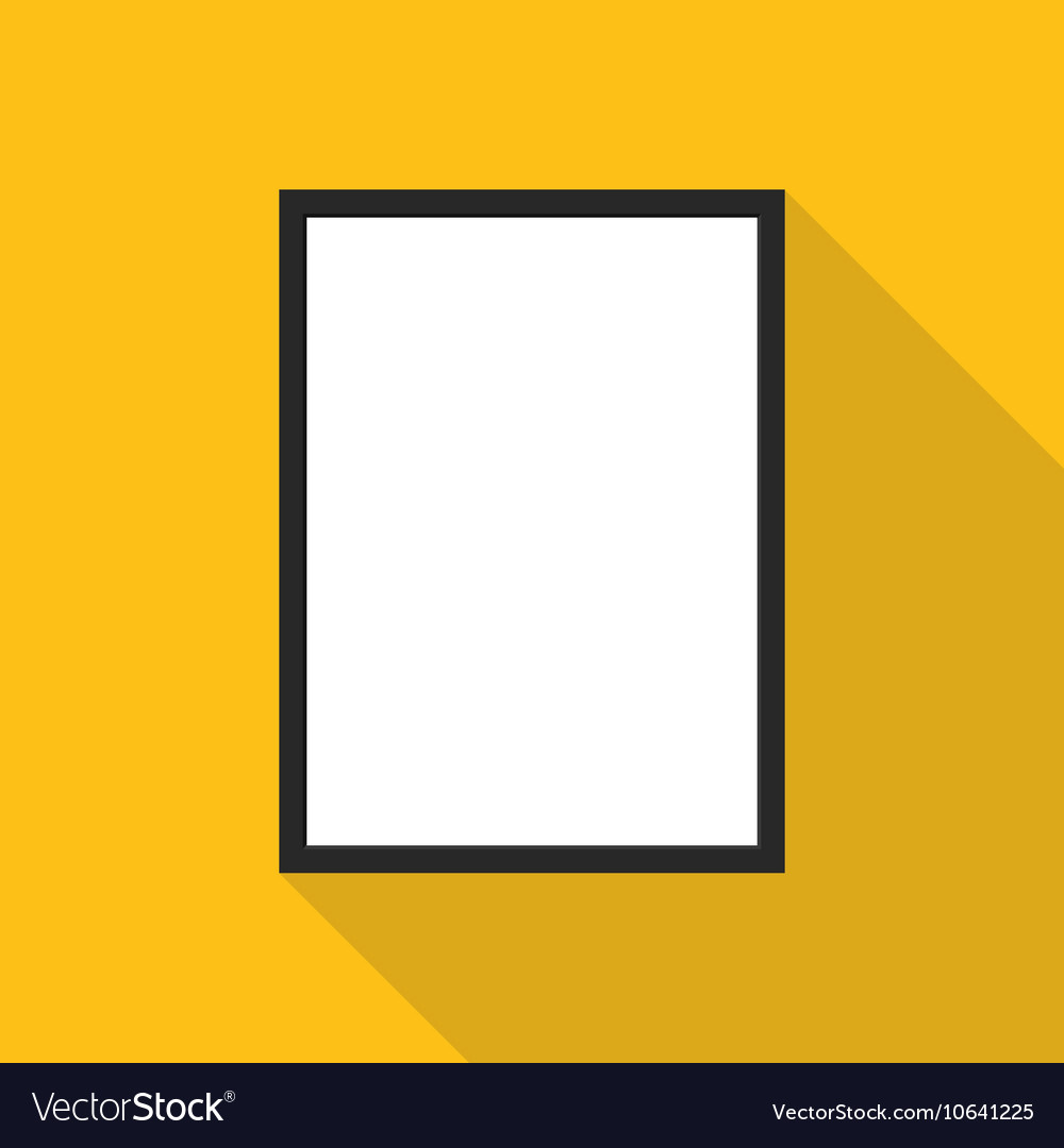 Blank picture frame on yellow wall