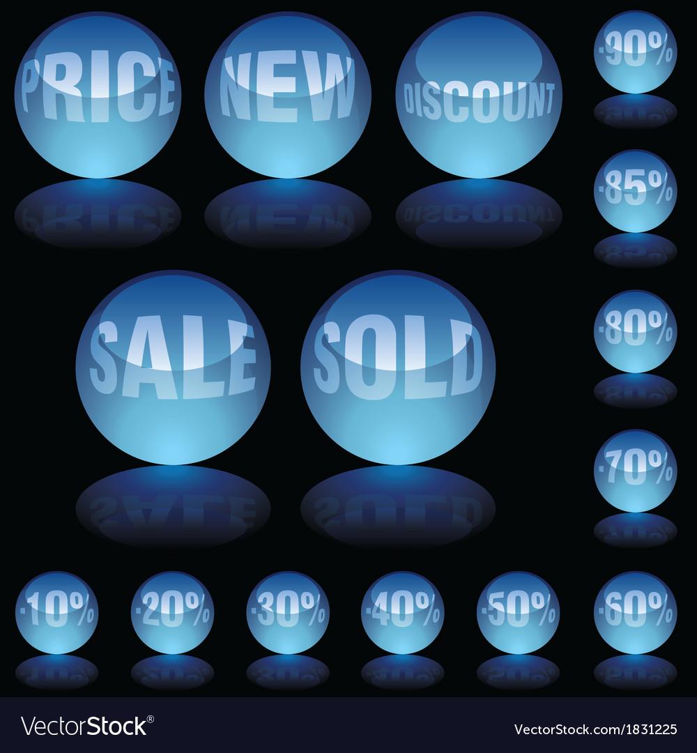 Blue Glass Spheres