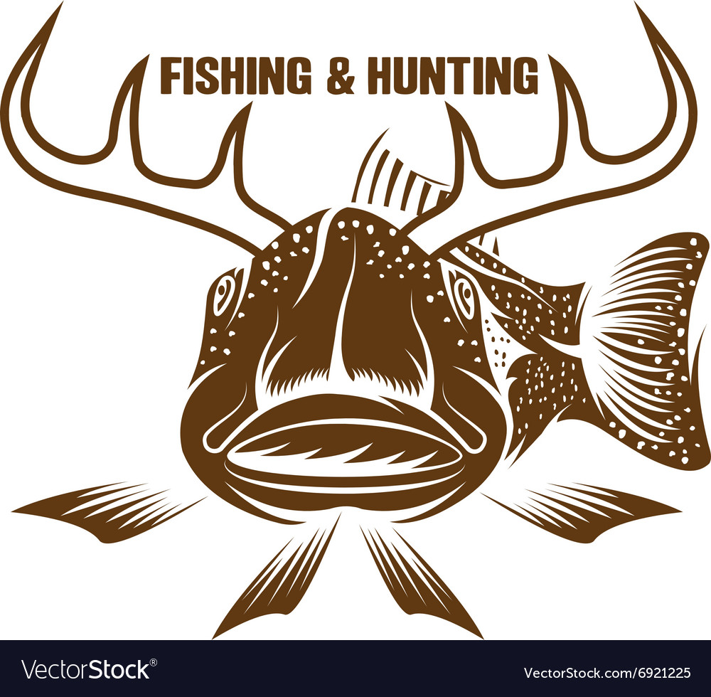 Fishing and hunting funny with horned fish