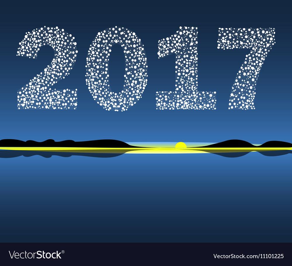 Happy New Year 2017 starburst dawn