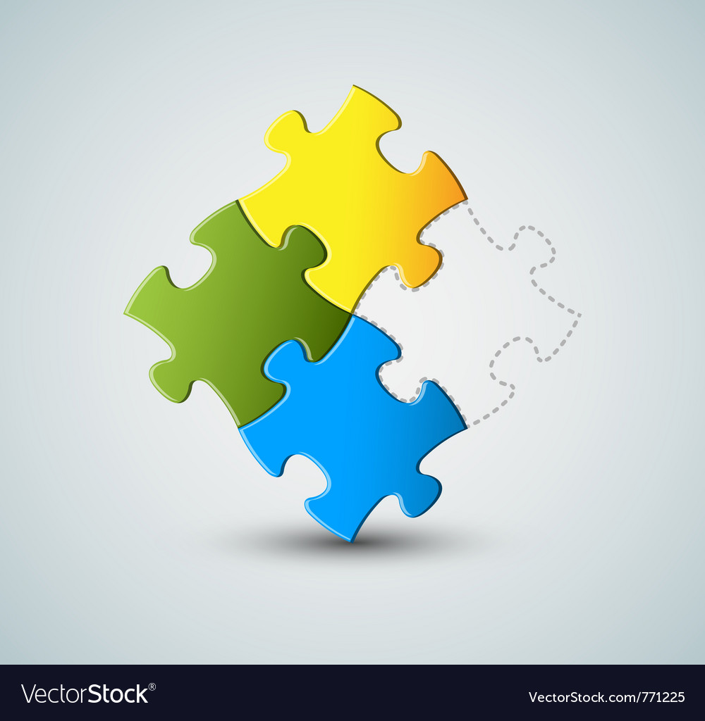 Puzzle solution vector image