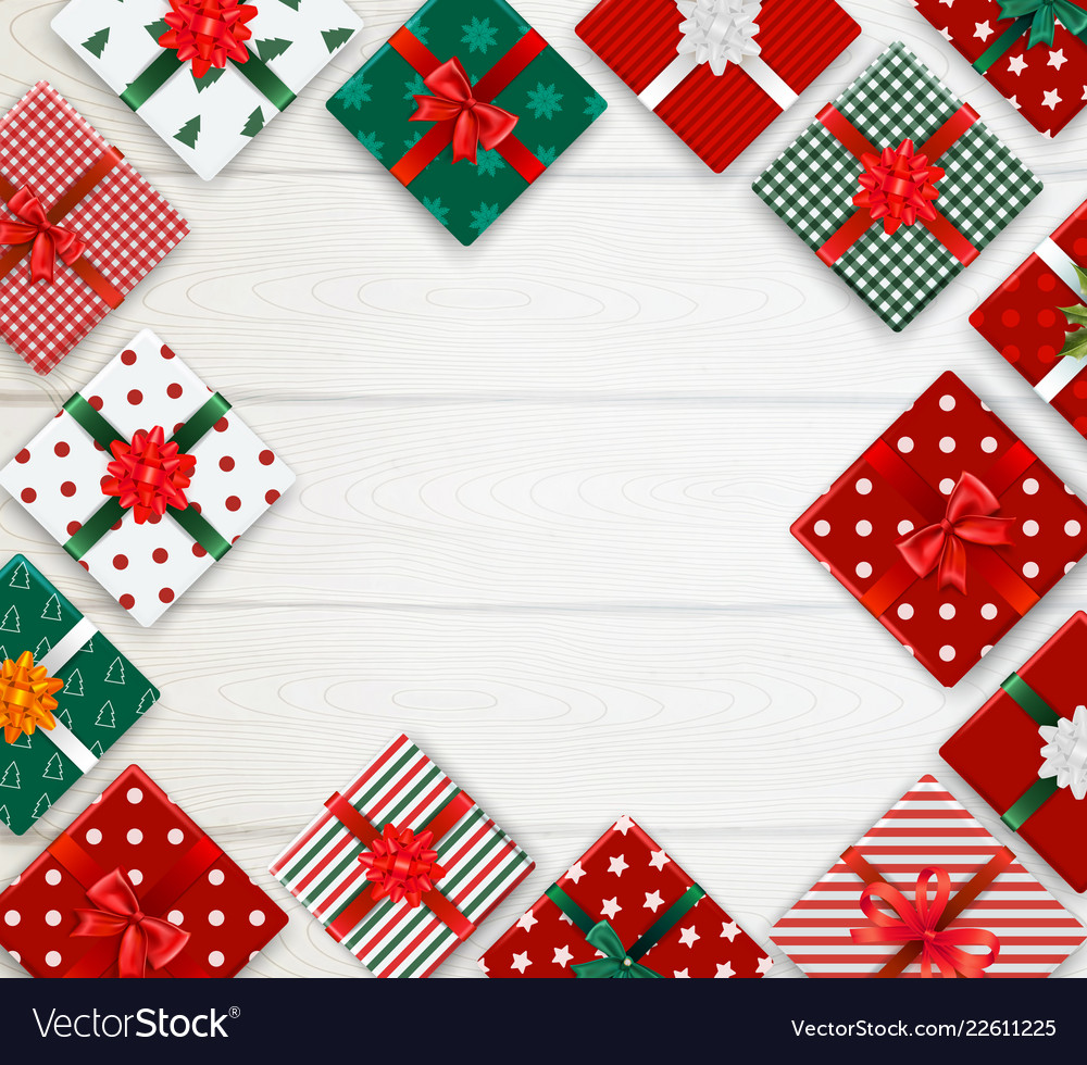 Realistic christmas background