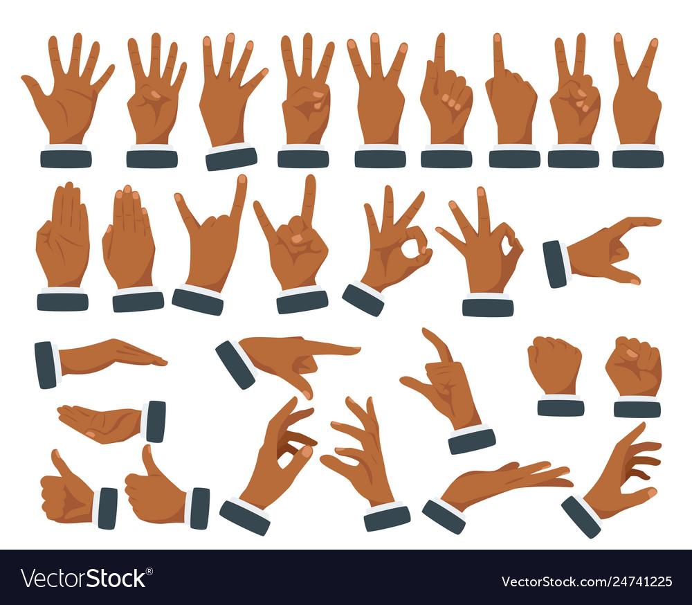 Set various hands gestures