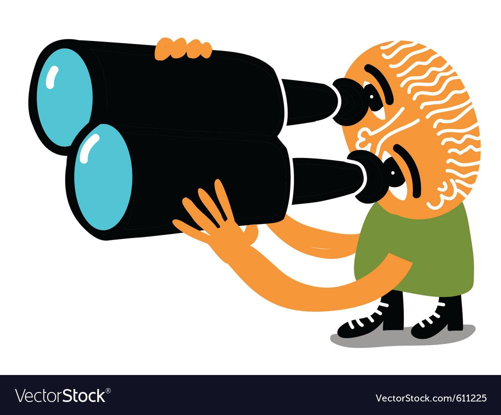 Spy man vector image