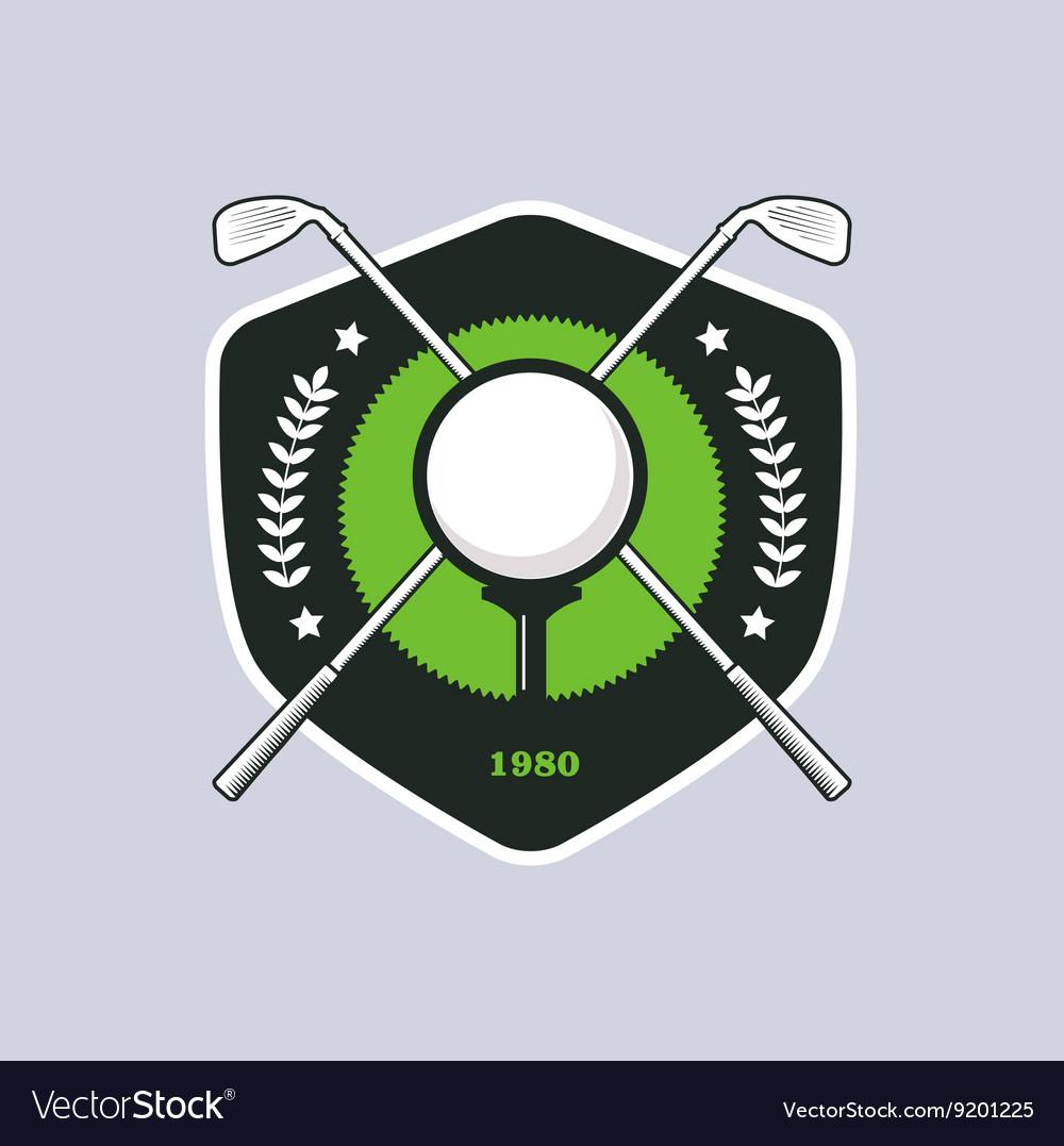 Vintage color golf badge