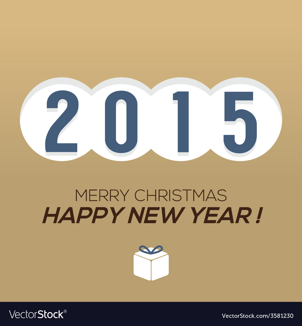 2015 Vintage New Year Card
