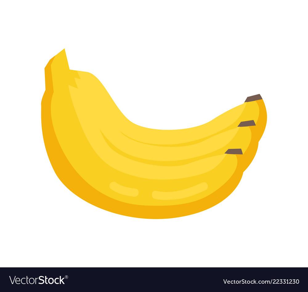 Bunch banana yellow ripe fruit