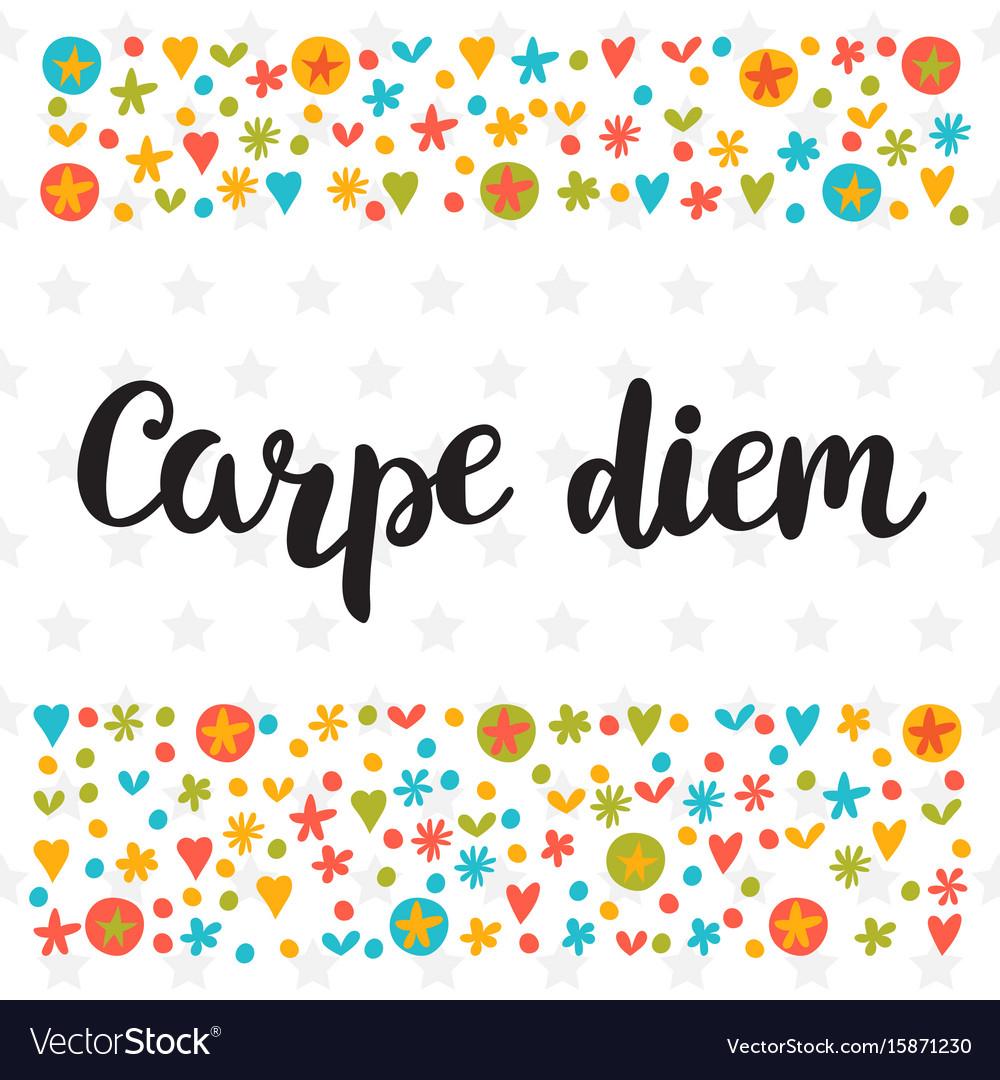 Carpe diem cute postcard inspirational quote