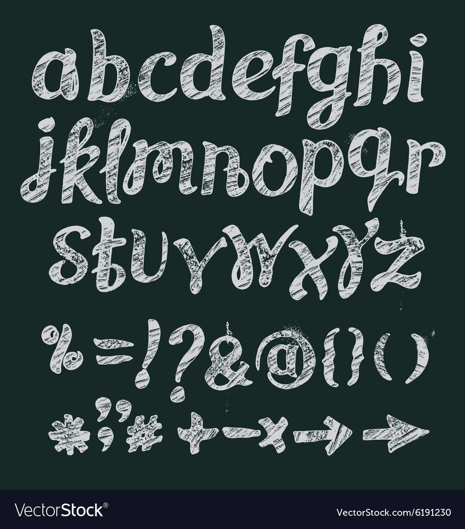 Chalk alphabet hand drawn font