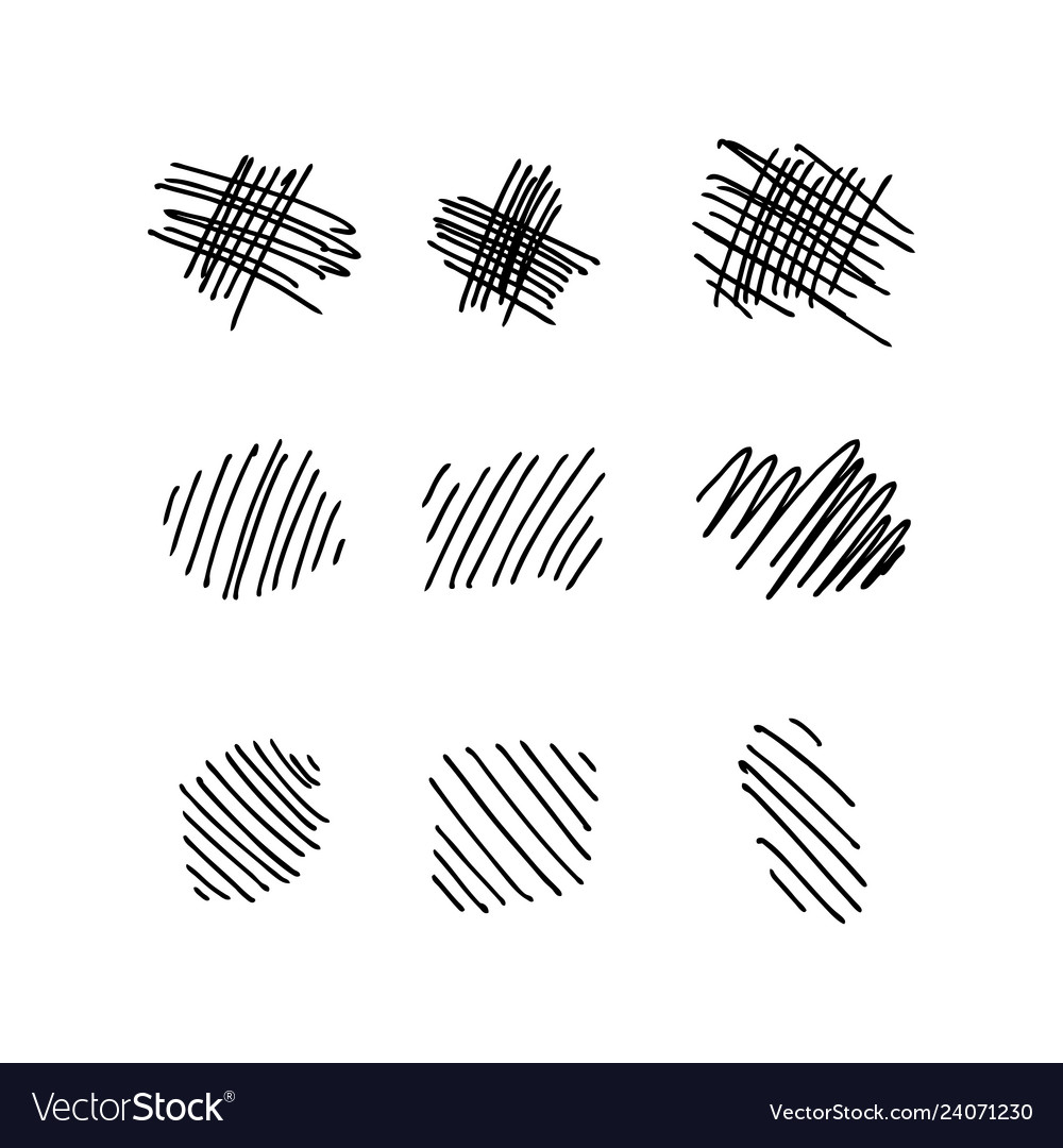 Collection of hand drawn lines