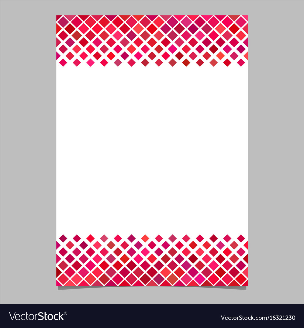 Diagonal square pattern page border template