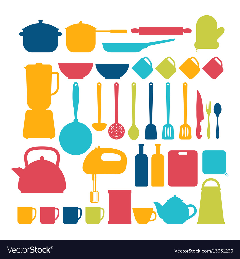 Kitchen appliances cooking tools and kitchenware