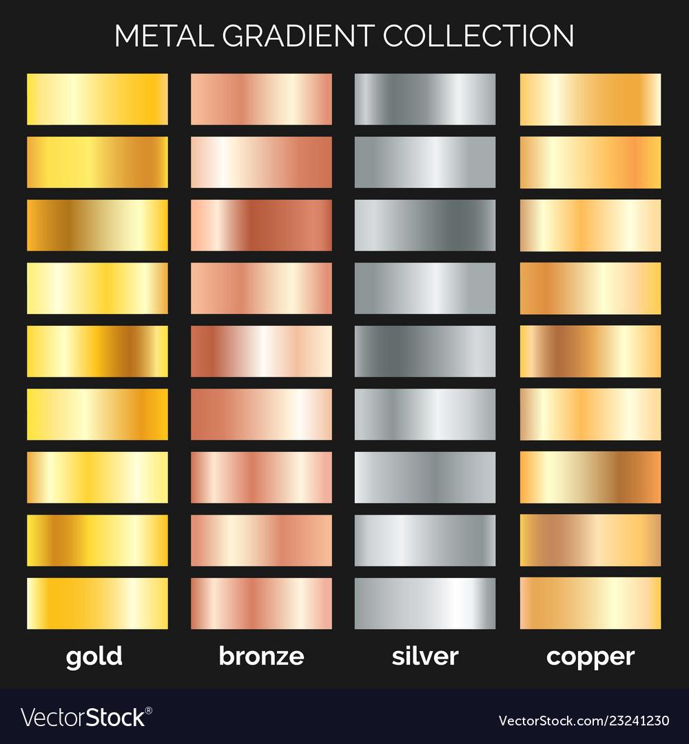 Metallic gradations set
