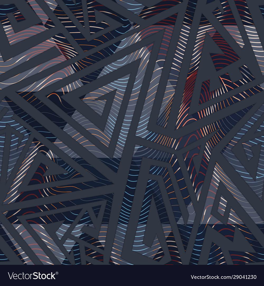 Urban color geometric maze pattern