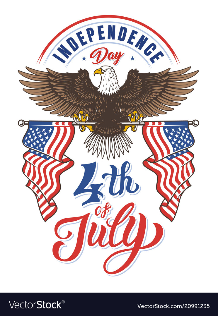 American eagle independence day vector image