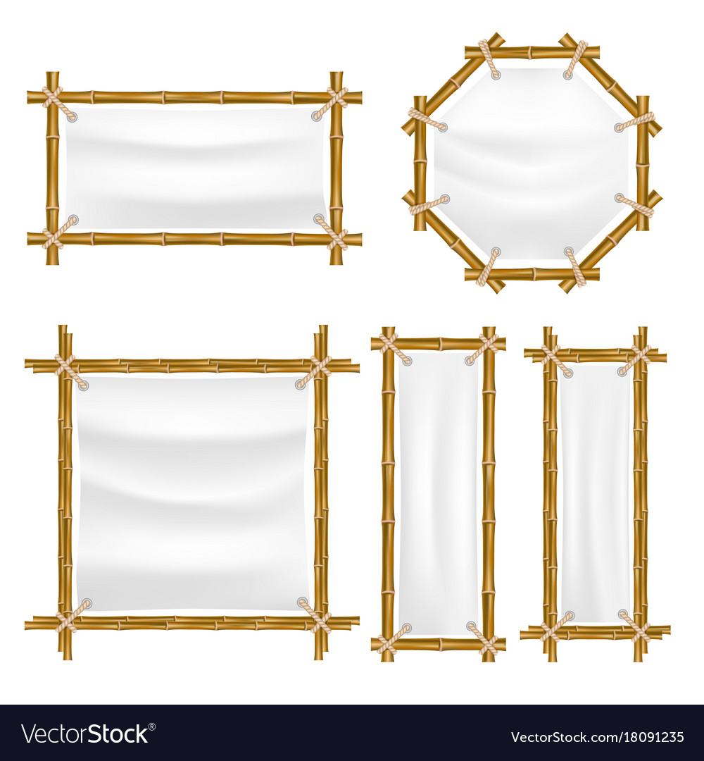 Bamboo frame with canvas set