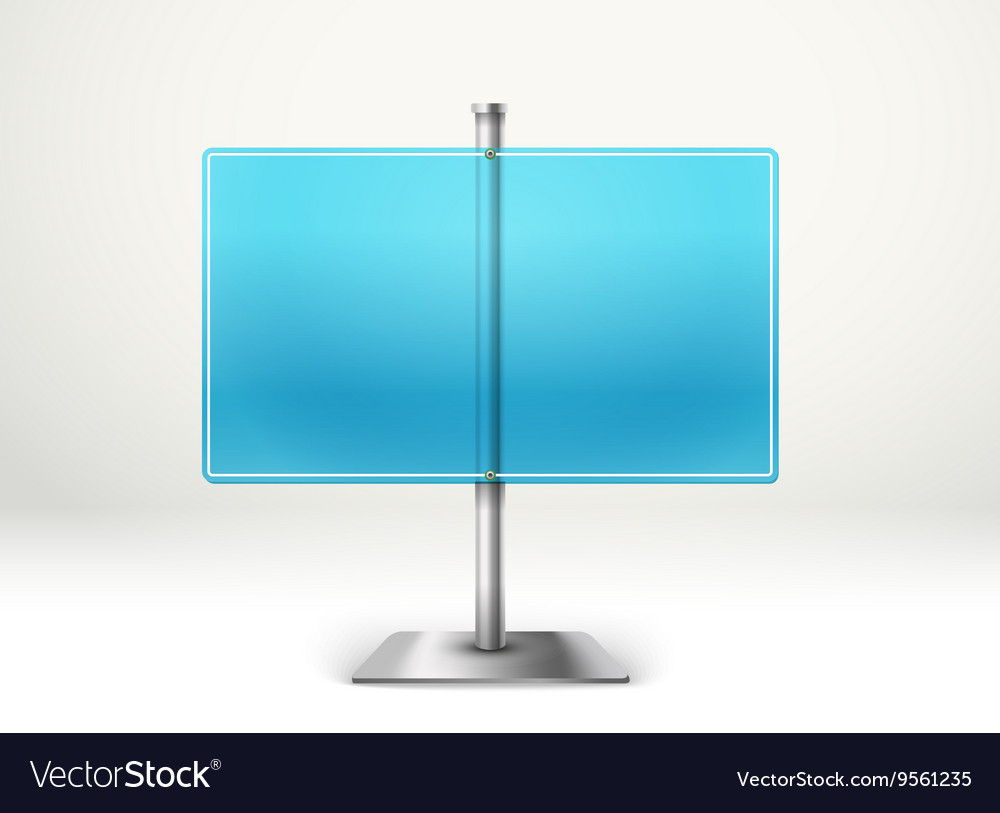 Blank transparent glass information board Template
