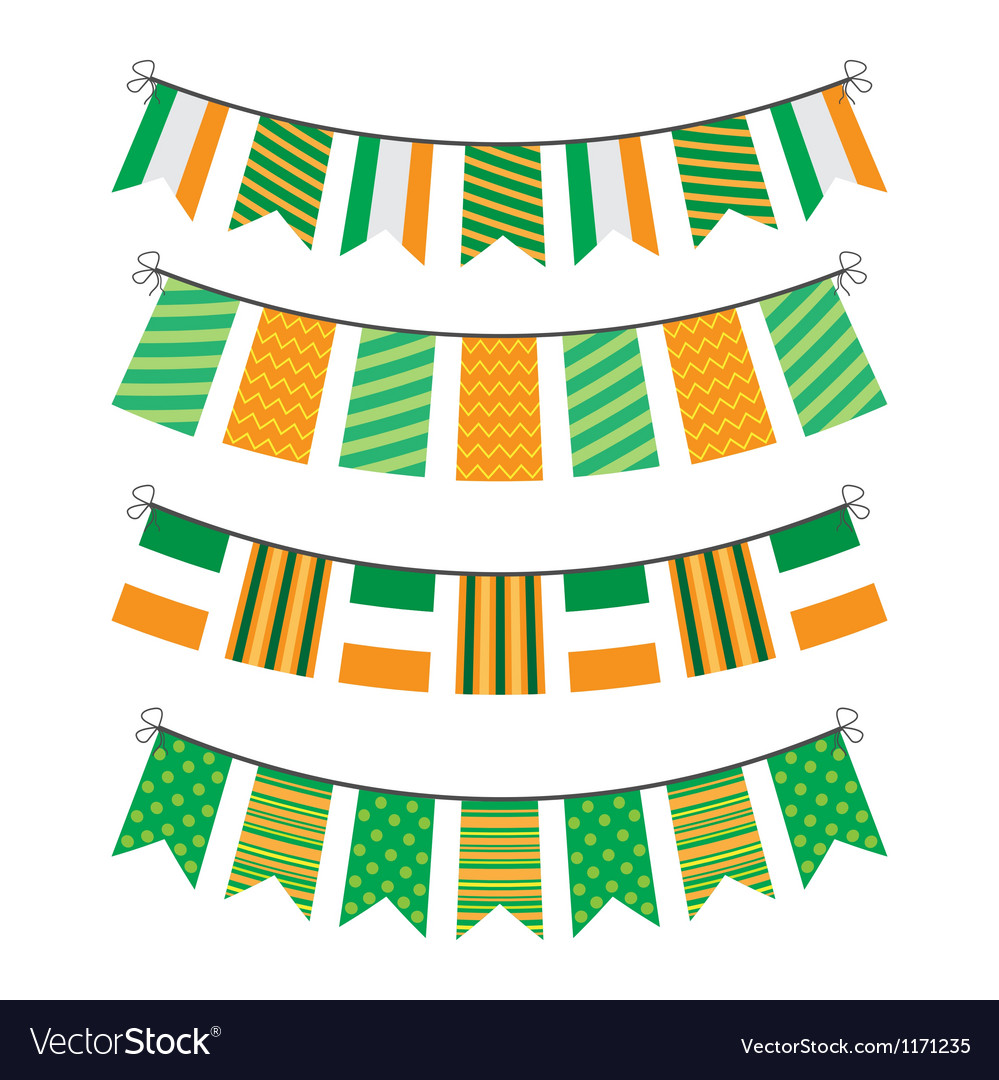 Bunting of flags vector image