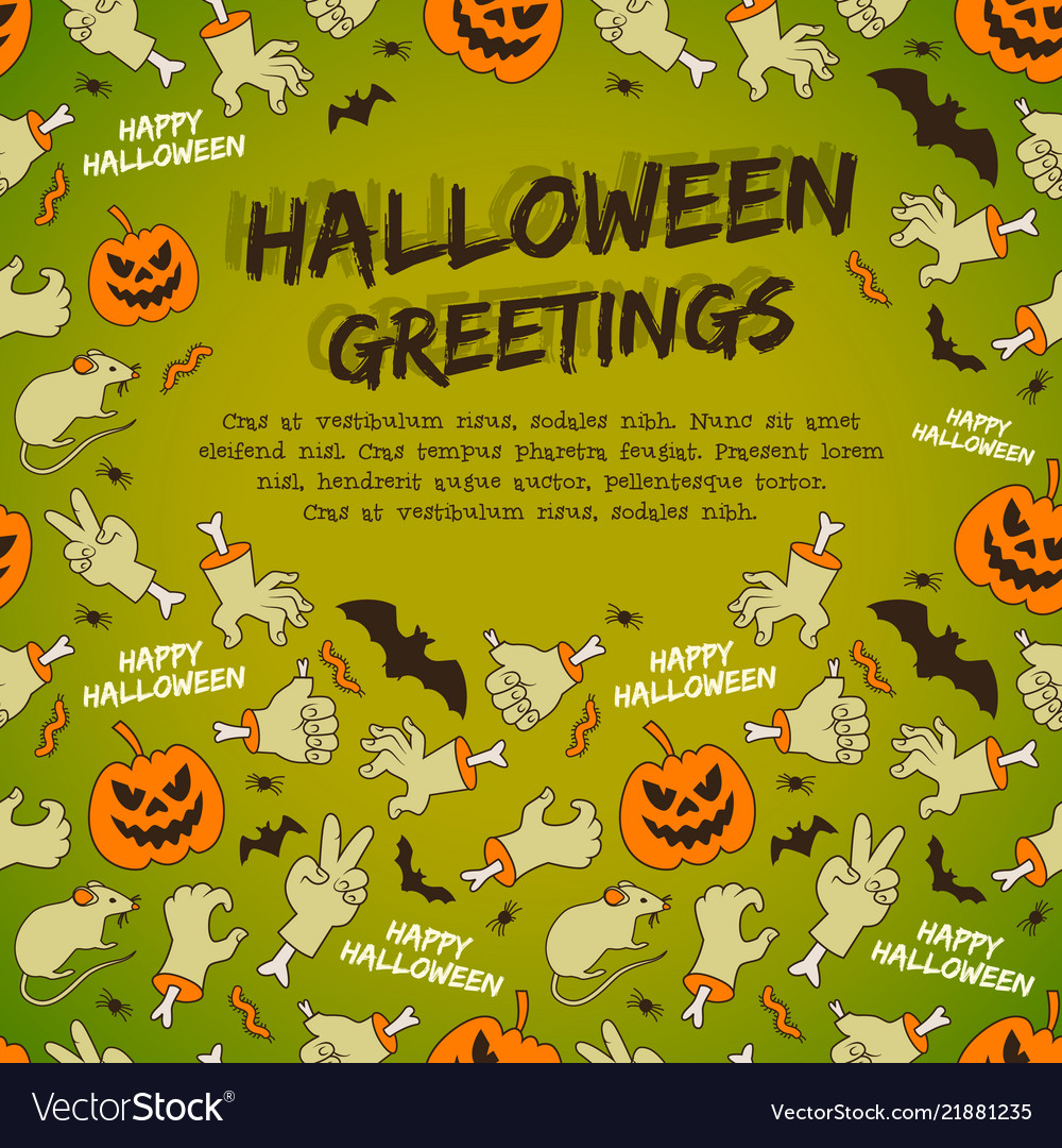 Halloween greetings on green background royalty free vector halloween greetings on green background vector image m4hsunfo