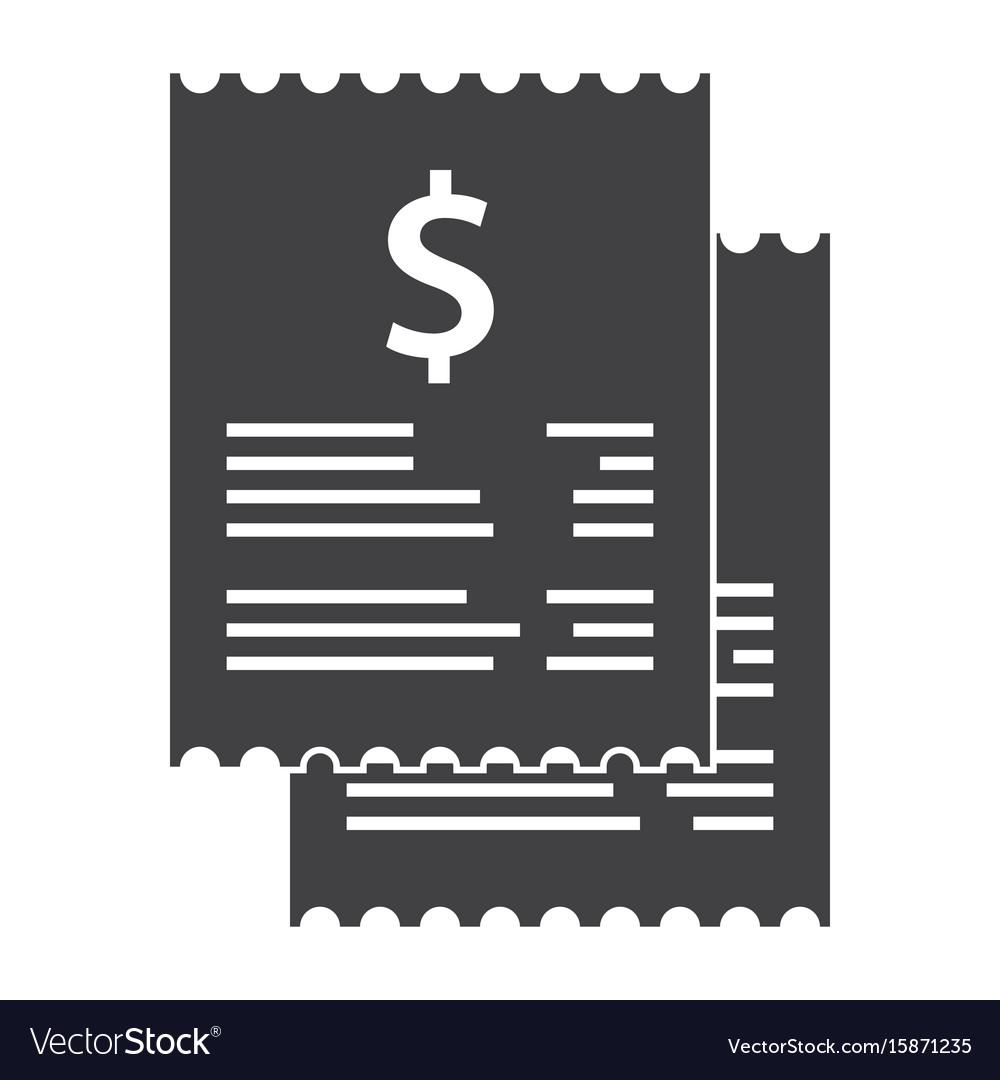 Invoice bills icon vector image