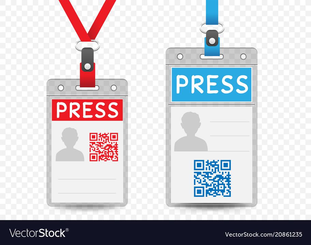 Press vertical badge template Royalty Free Vector Image