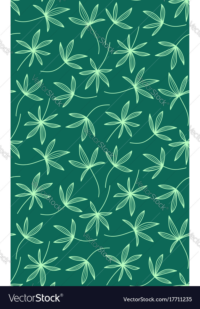 Seamless pattern made of palm leaves on white