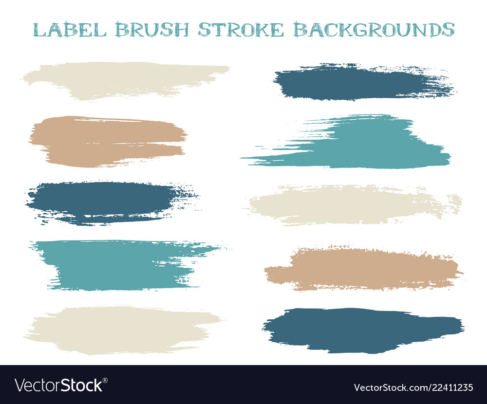 Textured label brush stroke backgrounds
